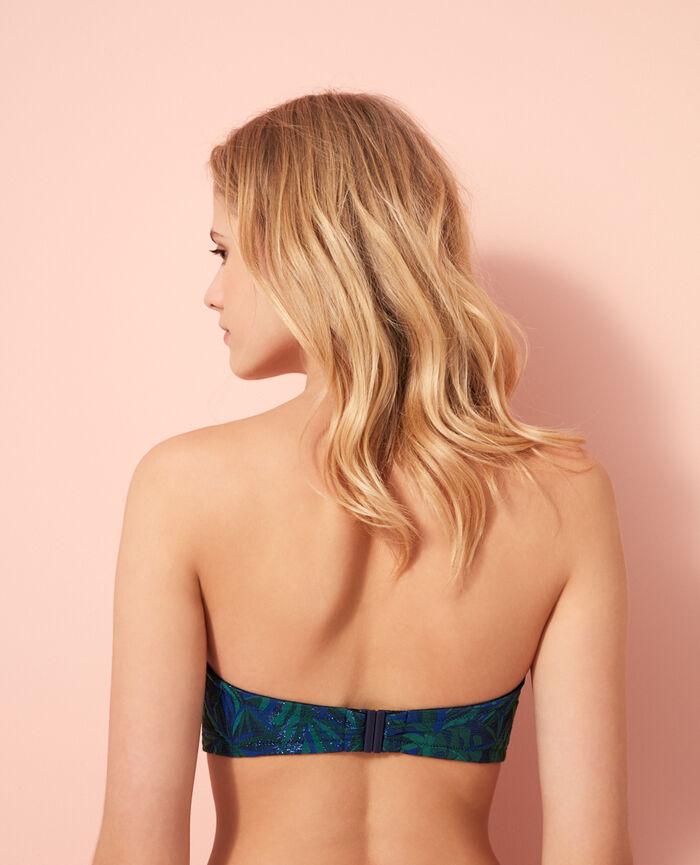 Bandeau-Bikini-Oberteil mit versteckten Bügeln Marineblau EXOTICA
