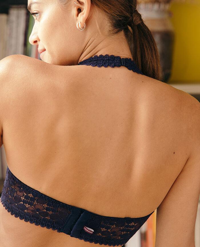 Rückenfreier Triangel-BH Marineblau JOSEPHINE
