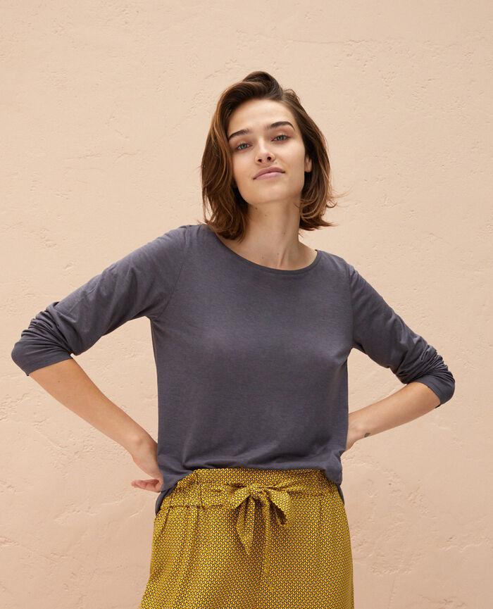 Langärmliges T-Shirt Gewittergrau LATTE