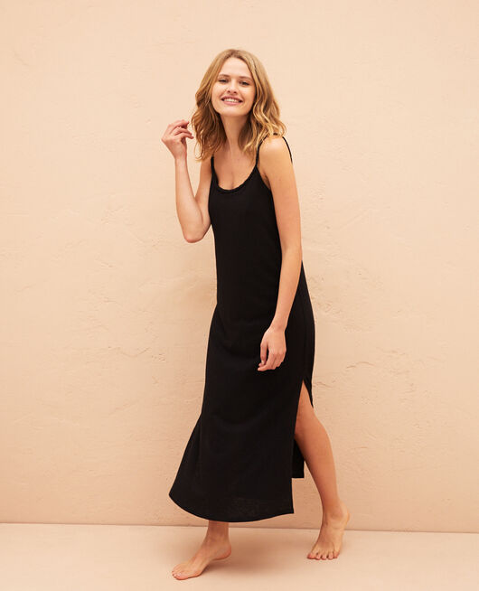 Langes Kleid Schwarz ARGAN