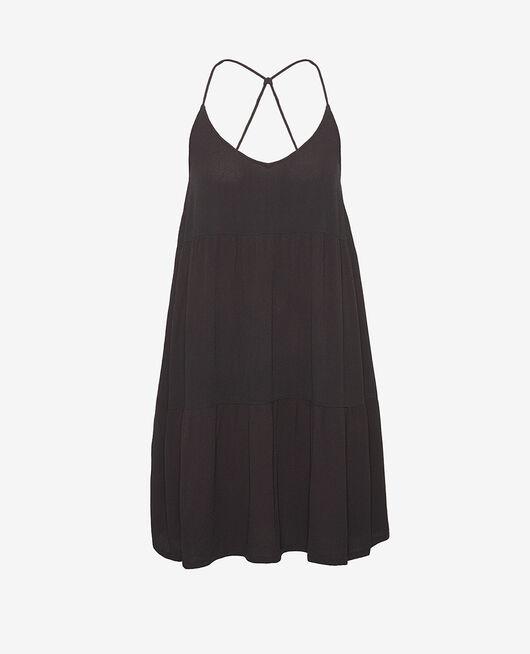 Kleid Schwarz CREPE VISCOSE