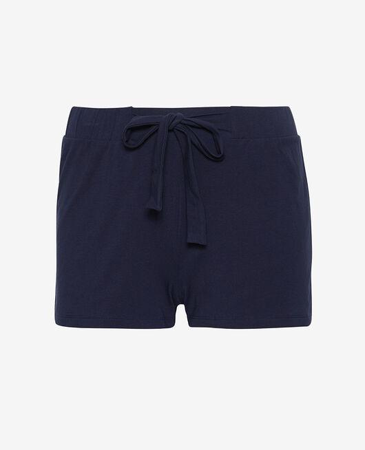 Pyjama-Shorts Marineblau ECHO