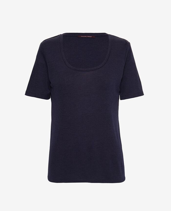 Kurzarm-T-Shirt Marineblau LATTE