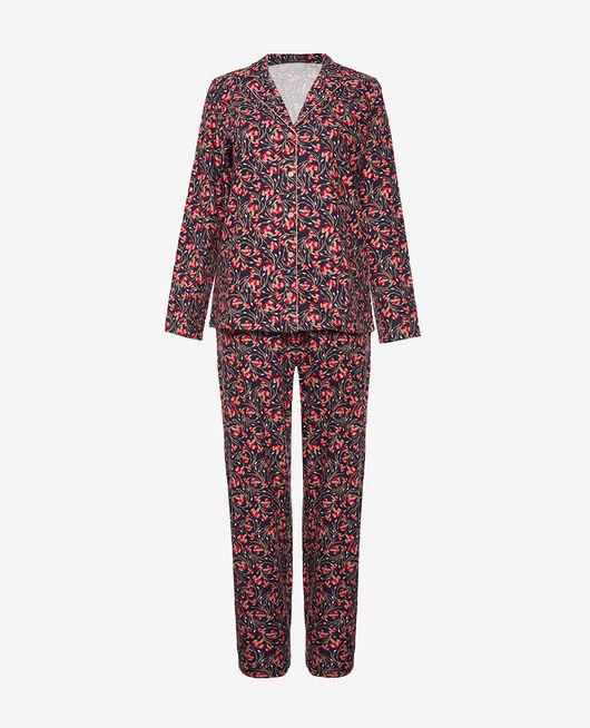 Pyjama-Set Nelken blau FLANELLE