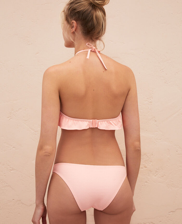 Bandeau-Bikini-Oberteil ohne Bügel Rosa Gazelle FARAH