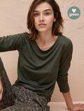 Langärmliges T-Shirt Moosgrün LATTE ORGANIC