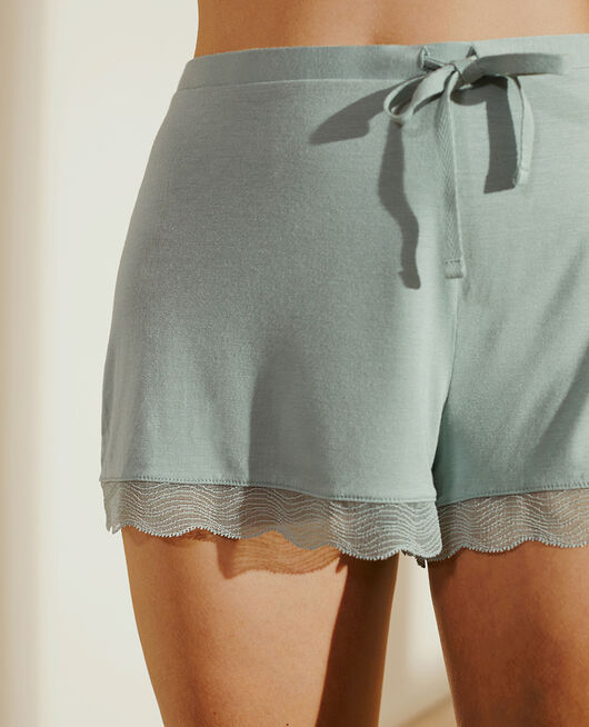 Pyjama-Shorts Mandelgrün DOUCEUR