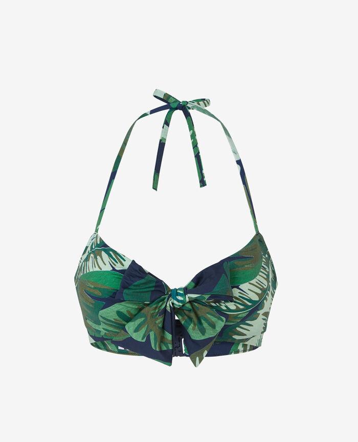 Bandeau-Bikini-Oberteil mit versteckten Bügeln Bunt VOYAGE VOYAGE