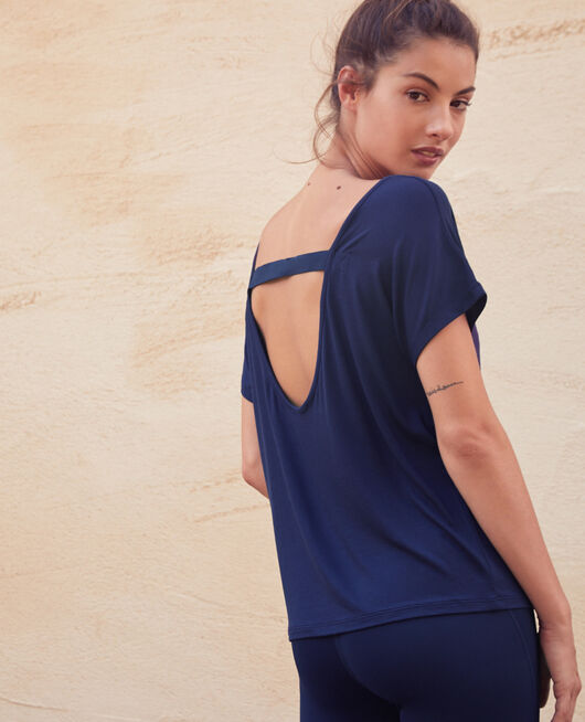 Sport-Shirt mit kurzen Ärmeln Marineblau YOGA