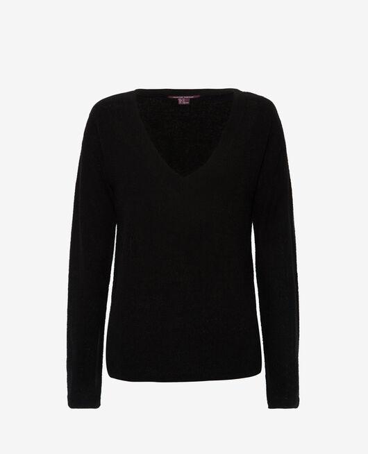 Pullover mit V-Ausschnitt Schwarz MAJORELLE