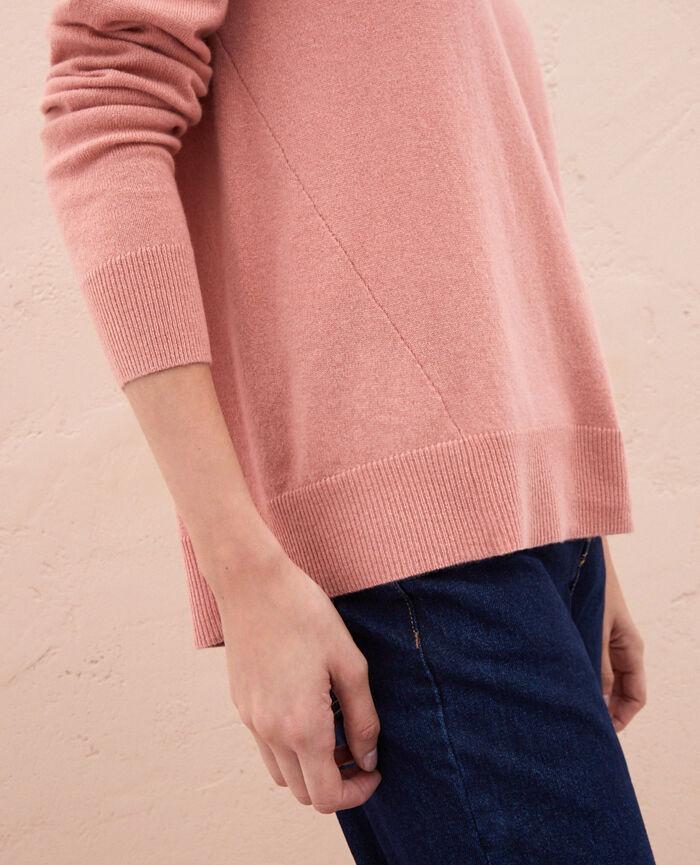 Pullover mit V-Ausschnitt Rosa Granatapfel ICONE