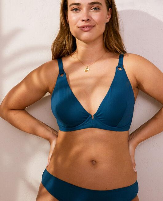 Triangel-Bikini-Oberteil mit Bügeln Sombrero Blau IMPALA