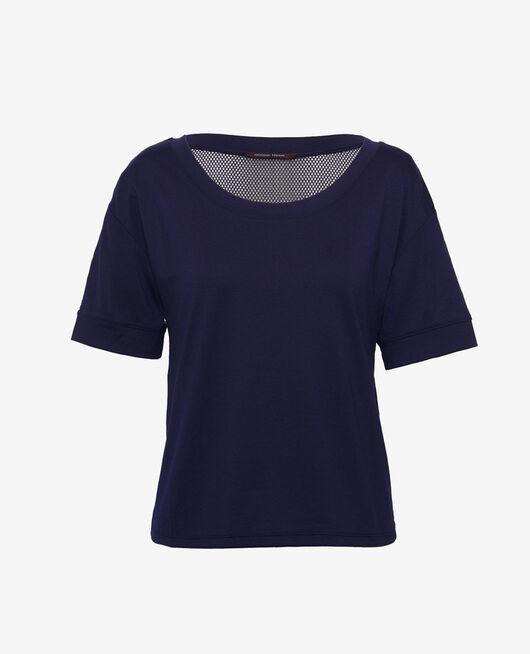 Sport-T-Shirt mit kurzen Ärmeln Marineblau YOGA RESILLE