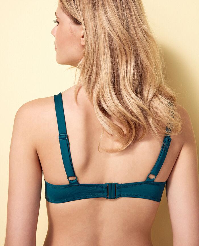Triangel-Bikini-Oberteil mit Bügeln Nachtgrün IMPALA