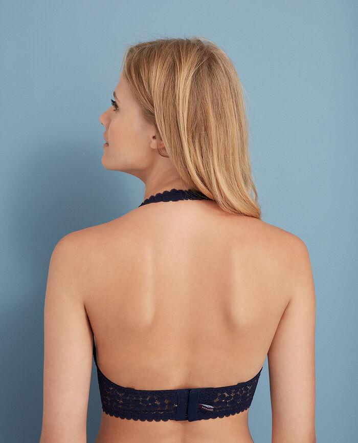 Rückenfreier Triangel-BH mit Multifunktionsträgern Marineblau MONICA