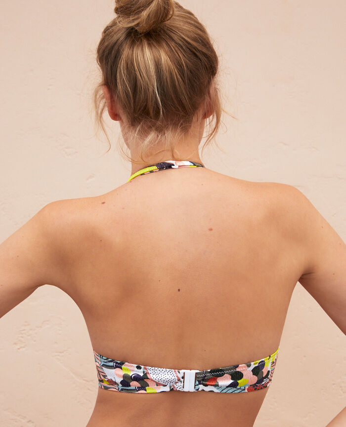 Triangel-Bikini-Oberteil mit Mini-Wire Bunt JUJUBE