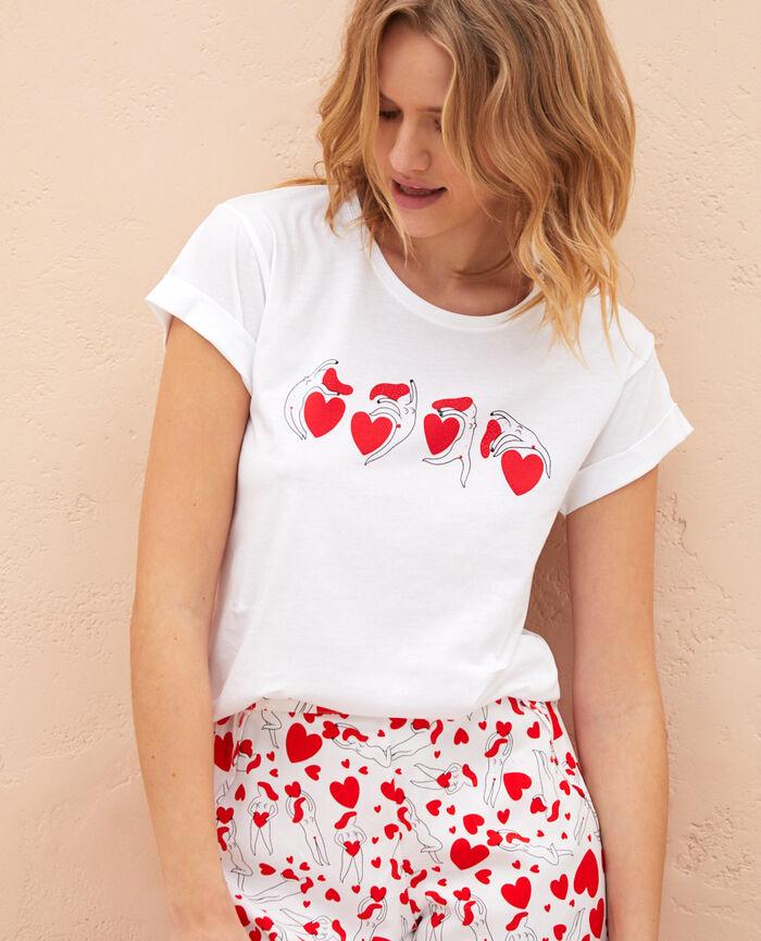 Kurzärmliges T-Shirt A la Folie Weiß A LA FOLIE