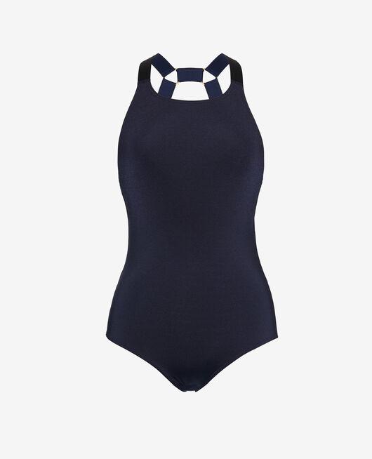 Sport-Badeanzug Marineblau DIVE