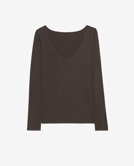 Langärmliges T-Shirt Rauchgrau HEATTECH® INNERWEAR