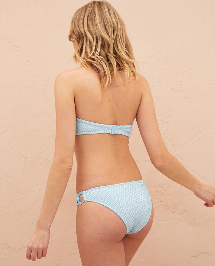 Bandeau-Bikini-Oberteil ohne Bügel Mosaik Grün JAWAHRA