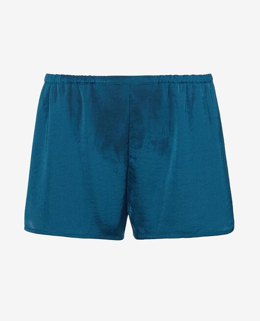 Pyjama-Shorts Jazz blau MINUIT