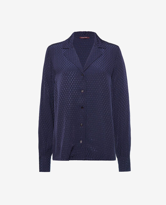 Pyjama-Jacke Marineblau BOUDOIR
