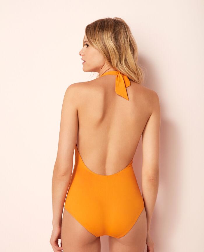 Badeanzug Neckholder Maya Orange ISAIA