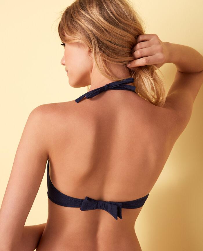 Gemoldetes Bikini-Oberteil Marineblau APRIL