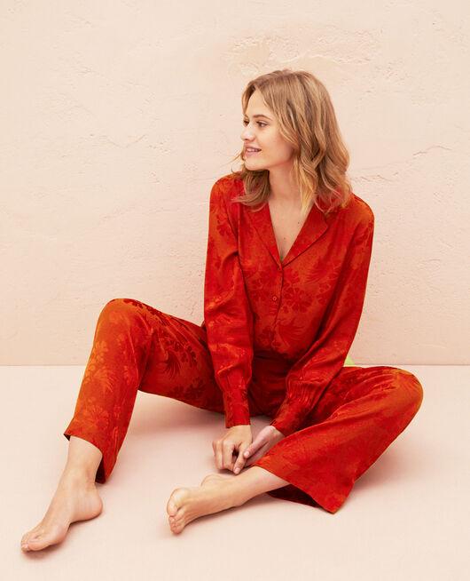 Pyjama-Jacke Terracotta MENARA