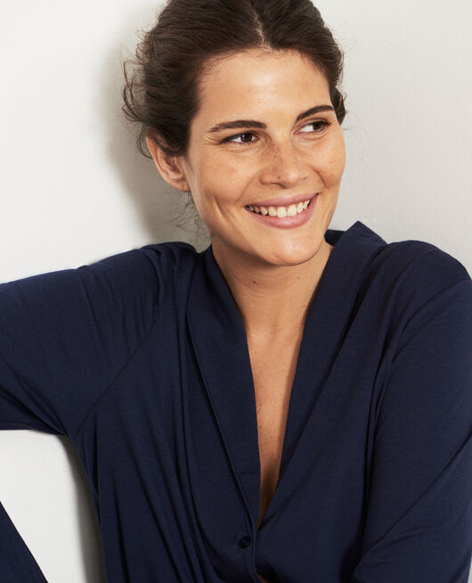Pyjama-Jacke Marineblau PARESSE