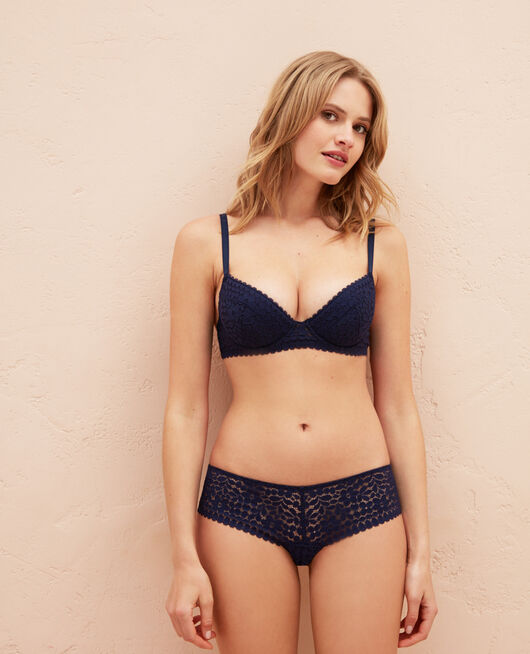 Gepolsterter Push-up-BH Marineblau MONICA