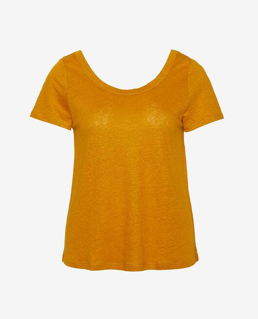 Kurzärmliges T-Shirt Kümmelgelb CASUAL LIN