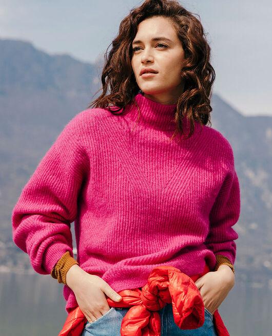 Pullover mit Stehkragen Fuchsia rosa WINTER