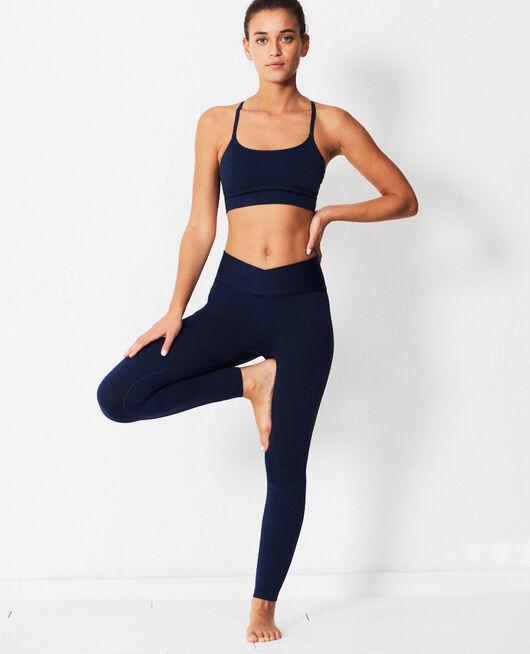 Sport-Leggings Marineblau YOGA