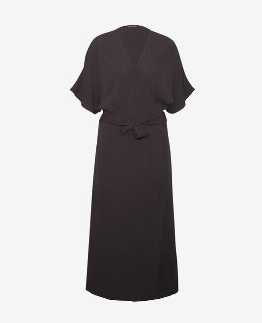 Langes Kleid Schwarz CREPE VISCOSE