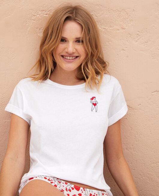 Kurzärmliges T-Shirt Agathe Weiß A LA FOLIE
