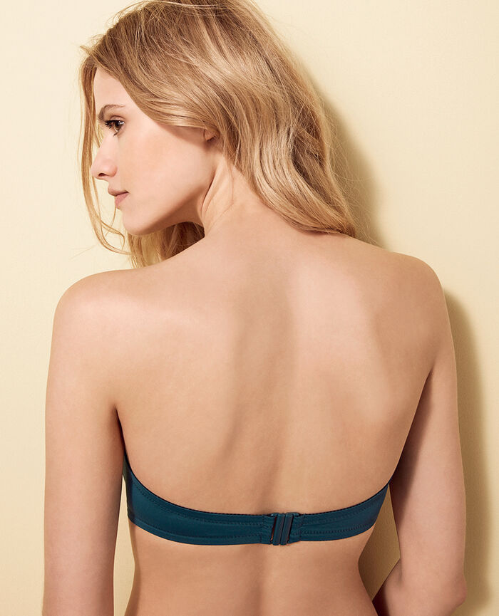 Bandeau-Bikini-Oberteil ohne Bügel Nachtgrün IMPALA