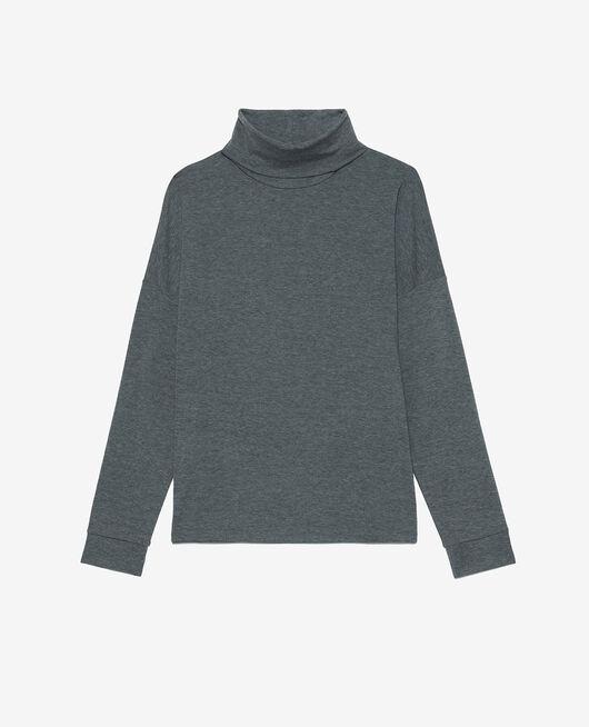 Langärmliges T-Shirt Grau meliert HEATTECH LOUNGE