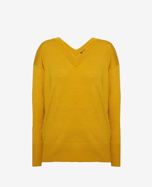 Pullover mit V-Ausschnitt Gelbgold HENRI