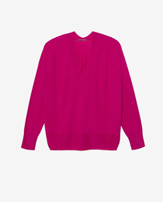Pullover mit V-Ausschnitt Violett Krokus COSY