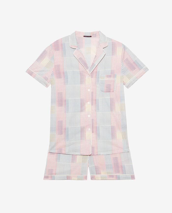 Pyjama-Set Trame Elfenbein TUTTI FRUTTI