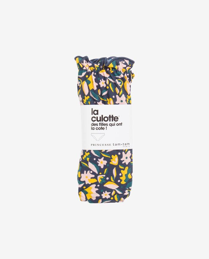 Slip mit Fantasie-Motiv Blaue Blumen TAKE AWAY