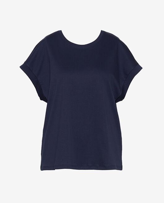 Kurzärmliges T-Shirt Marineblau SUPIMA