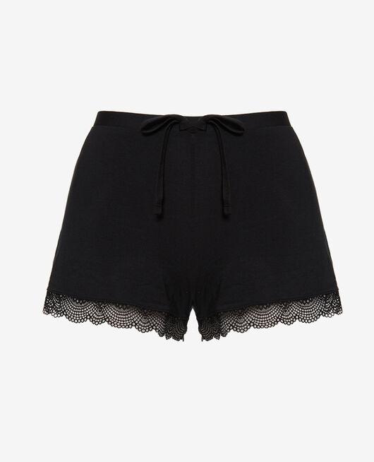 Pyjama-Shorts Schwarz REVERIE