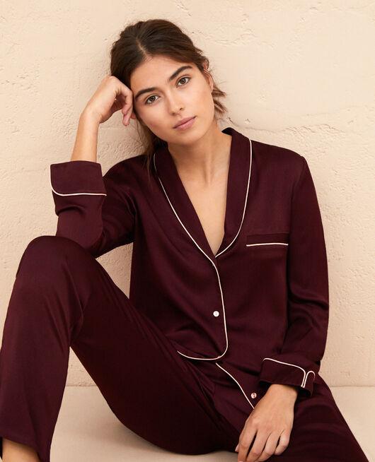 Pyjama-Jacke Pflaume SUBTIL