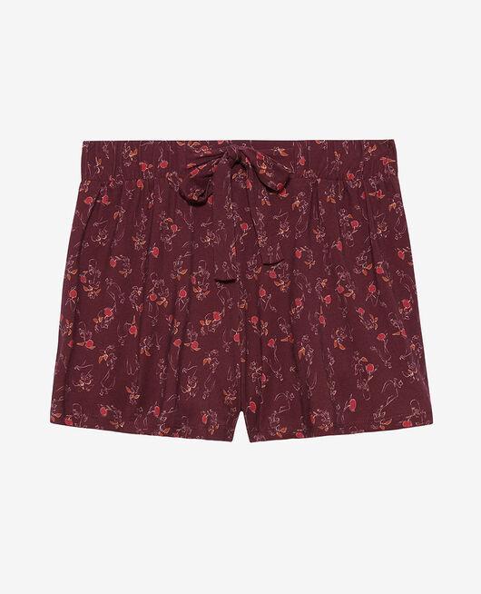 Pyjama-Shorts Blumenstrauß Pflaume TAMTAM SHAKER