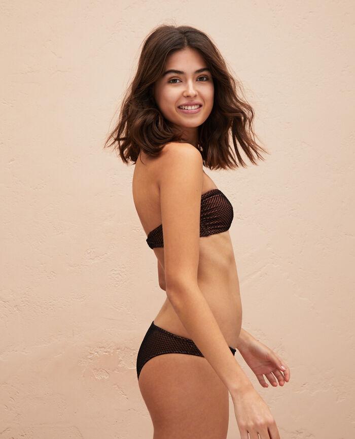 Bandeau-Bikini-Oberteil ohne Bügel Schwarz JAWAHRA