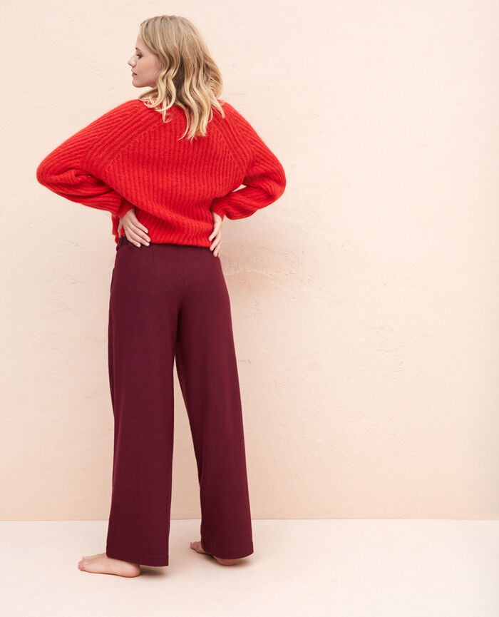 Weite Hose Cassis rot PERSPECTIVE