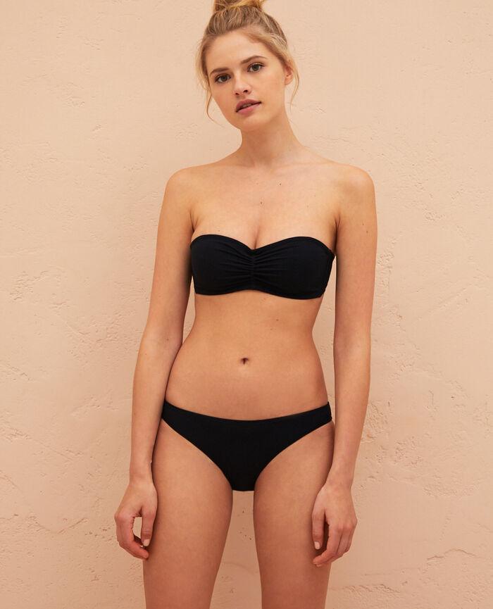 Ausgeschnittener Bikinislip Schwarz SALMA