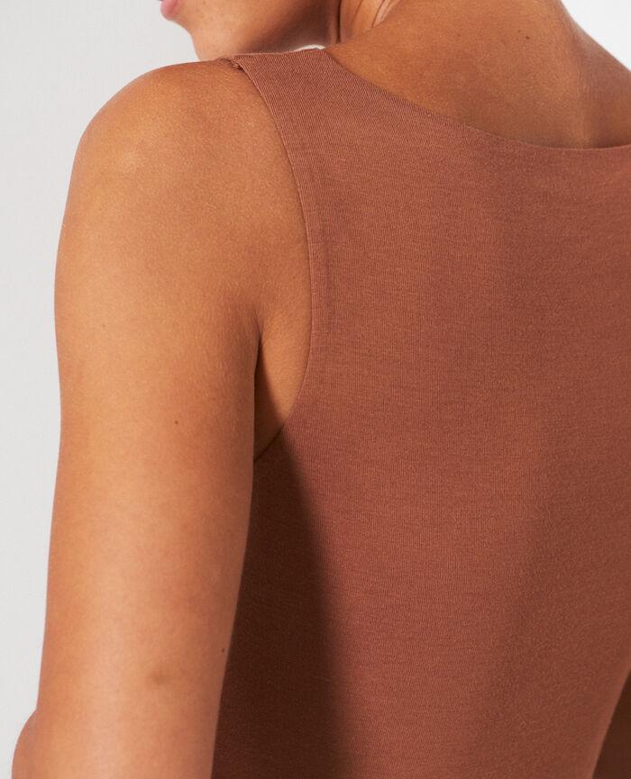 Ärmelloses T-Shirt Muskatnuss Braun HEATTECH© INNERWEAR